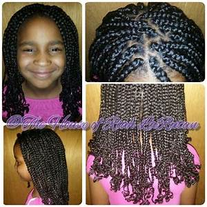 Kids box braids with curled ends   The HairDo I Do ...