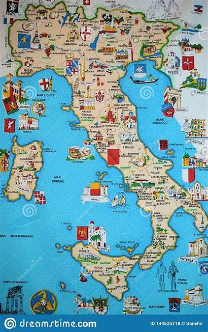 Italy Map Italia Symbols Italian Europe Travel