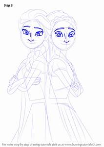 step by step how to draw elsa and from frozen fever