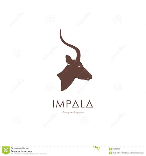 Artistic Stylized Impala Logotype. Stock Vector ...