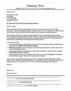 cover letter for internship in software company - business analyst cover letter sample