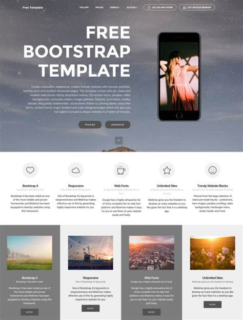 free bootstrap templates 83 free bootstrap themes templates free premium templates