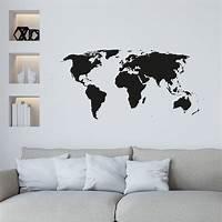 nice world map wall decals world map wall sticker by leonora hammond | notonthehighstreet.com