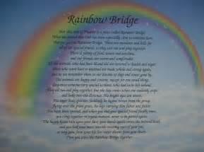 Rainbow Bridge Poem Pet Death