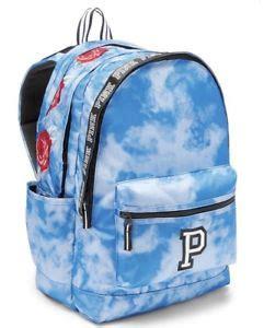 tie backpack victorias secret pink campus backpack blue tie dye roses