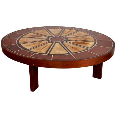 tile coffee table roger capron 1970 tile coffee table garrigue collection