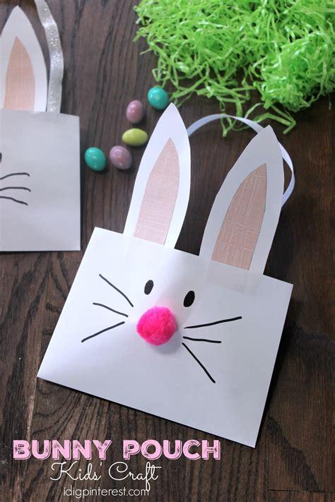 bunny pouch kids craft  dig pinterest
