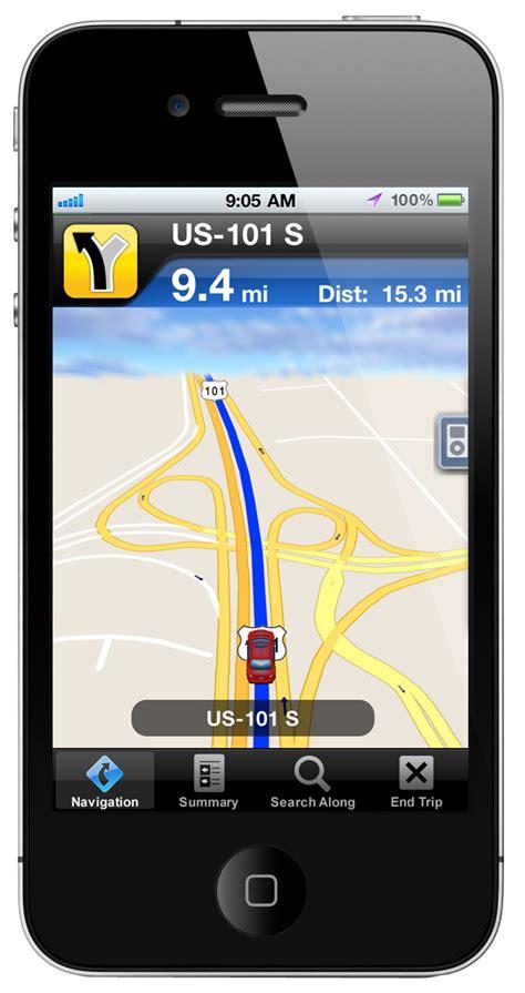 gps on iphone verizon iphone telenav gps app available now slashgear