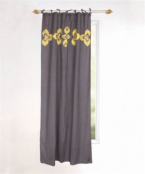 karma living yellow gray curtain panel curtains gray