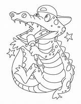 Coloring Crocodile Pages Printable Baby Alligator Clipart Crocodiles Superstar Singing Getcolorings Library Popular Hatching Getdrawings Line sketch template
