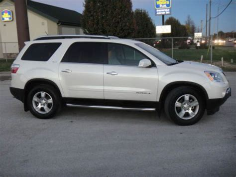 purchase   gmc acadia slt awd leather quad seating