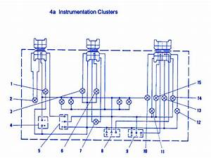 Fiat X1-9 1986 Instrument Cluster Electrical Circuit Wiring Diagram