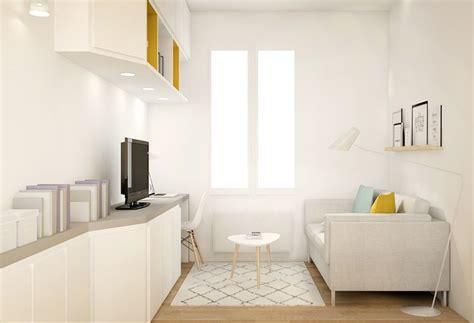 photo de cuisine ouverte sur sejour surface aménagement studio décoration lyon