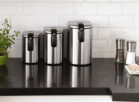 stainless steel kitchen canisters design ideas for the modern townhouse