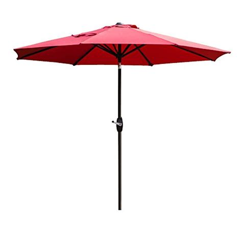 amt 9 ft market patio umbrella tilt and crank 100