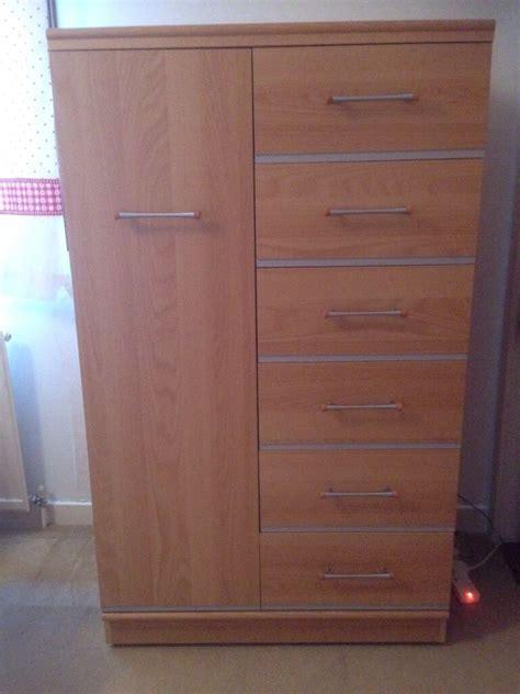 Tallboy Wardrobe by Beech Tallboy Wardrobe Cupboard With 6 Drawers Alston