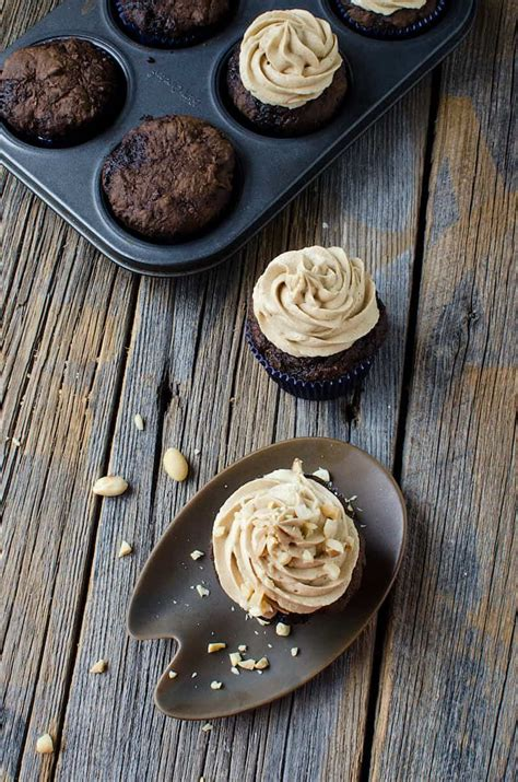 chocolate zucchini cupcakes with peanut butter frosting the best chocolate zucchini cupcakes you ve ever had diy candy