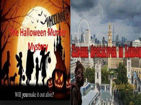 halloween apocalypse murder zombie mystery london starters bundle