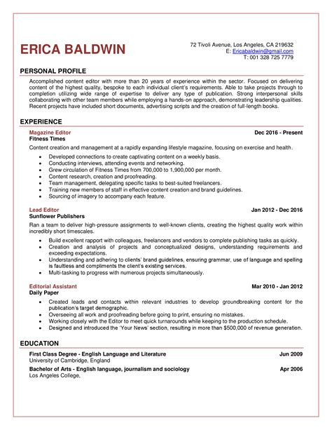 Resume Editor by Editor Resume Sle Get Things Moving