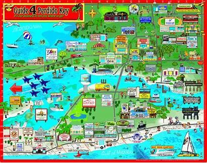 Perdido Key Map Beach Orange Things Maps
