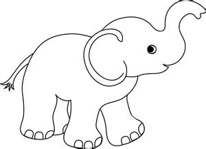 elephant clipart outline trunk up elephant clip outline clipart panda free clipart