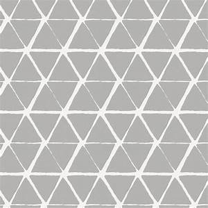 Gray Aztec Triangles Fabric by the Yard Gray Fabric