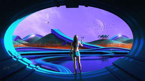 sci fi futuristic life wallpapers hd wallpapers id