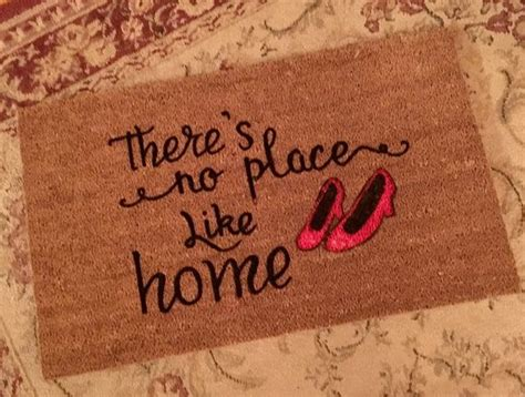 theres no place like home doormat best 25 door mats ideas on doormat welcome