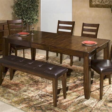 belfort select cabin creek solid mango wood dining table  butterfly leaf belfort furniture dining tables