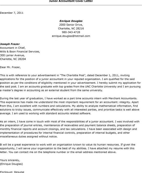 resume cover letter template  accounting junior