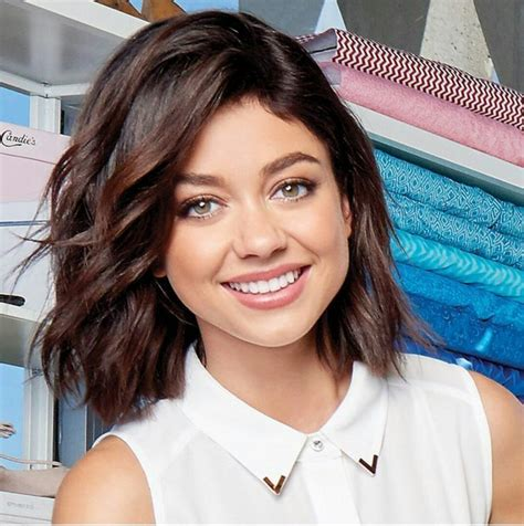 sarah hyland short hair ideas  pinterest