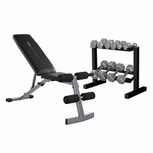 Cap Strength Fid Bench With 150 Lb Dumbbell Set - Walmart Com