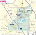 Kings County Map, Map of Kings County, California