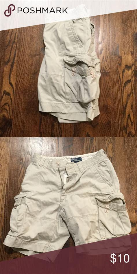 khaki colored cargos polo cargo shorts khaki colored polo shorts excellent