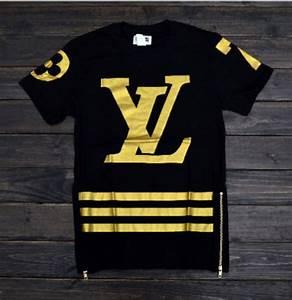 T Shirt Louis Vuitton Homme : shirt lv side zipper stripes black gold louis ~ Melissatoandfro.com Idées de Décoration