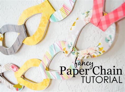 diy fancy paper chains project nursery