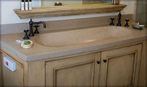 bathroom vanity concrete trough sink sonoma cast stone