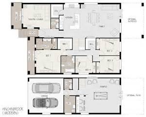 home design building blocks hinchinbrook split level sloping block marksman homes illawarra and southern highlands