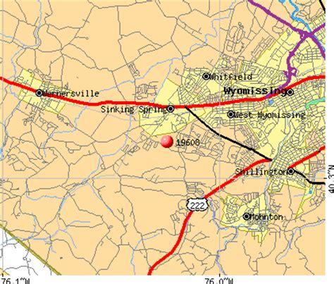 sinking springs pa zip code 19608 zip code gouglersville pennsylvania profile