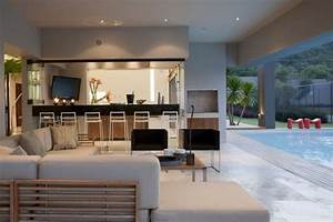 Den and pool of nice house interior design ideas for Nice interior house design ideas