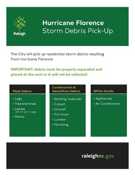 Hurricane Florence Storm Debris Pick-up