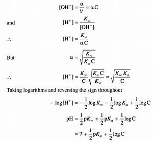Calculation Of Hydrolysis Constant  Degree Of Hydrolysis