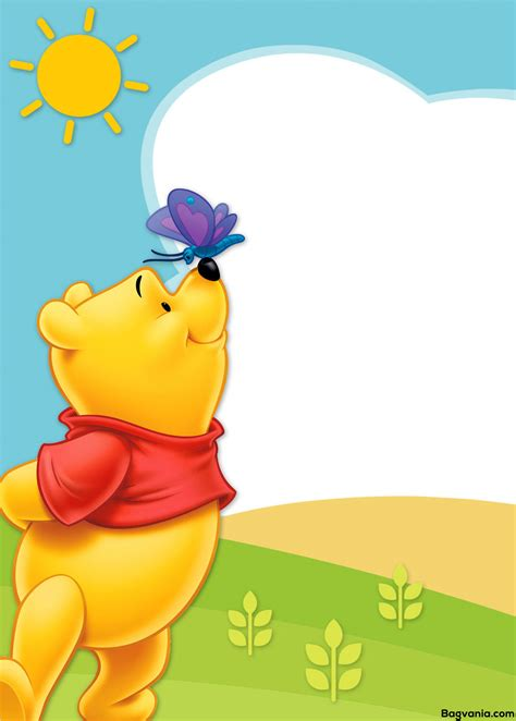 Winnie The Pooh Templates by Free Printable Winnie The Pooh Birthday Invitation Wording