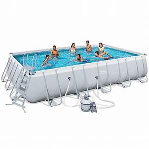 Grande Piscine Tubulaire : piscine tubulaire rectangulaire 671 x 366 x 132 cm maison et loisirs e leclerc ~ Mglfilm.com Idées de Décoration