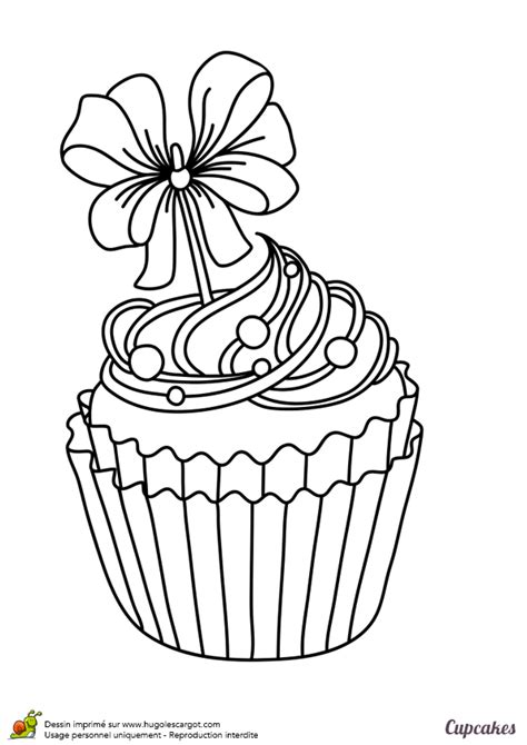 colorier  cupcake exquis  tres festif coloriages