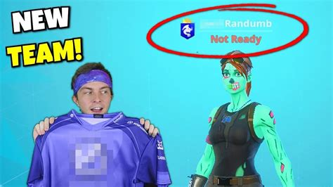 joined  fortnite team big surprises youtube