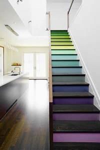 quelle couleur pour repeindre un escalier deco cool With peinture mur exterieur couleur 10 deco moderne de cage descalier avec peinture rose