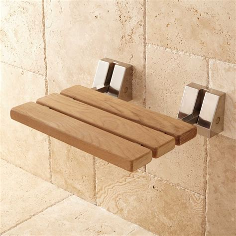 teak shower wall mount teak folding shower seat bathroom