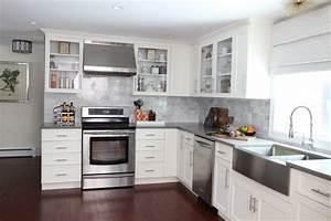White Kitchen Remodel - Contemporary - Kitchen - boston