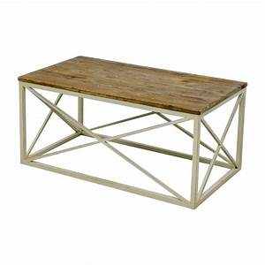 67 off wayfair wayfair wooden and metal coffee table for Wayfair metal coffee table